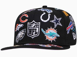 New Era NFL Logo Badge 100th Anniversary Centennial Black 59FIFTY Cap (ONLINE EXCLUSIVE)