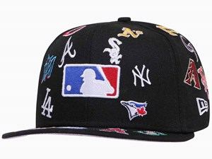 New Era MLB Logo Badge 100th Anniversary Centennial Black 59FIFTY Cap (ONLINE EXCLUSIVE)