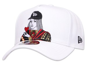 New Era Queen of Hearts Playing Card  White 9FORTY K-Frame Cap