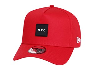 New Era NYC Rubber Scarlet 9FORTY K-Frame Cap