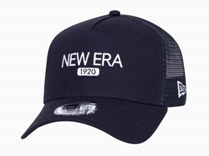 New Era 1920 Duck Canvas Navy 9FORTY A-Frame Trucker Cap