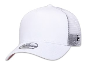 New Era Plain White 9FORTY A-Frame Trucker Cap (ESSENTIAL)