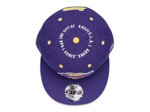 Los Angeles Lakers NBA Circle Teams Purple 9FIFTY Cap