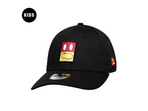 Mickey Mouse Disney Entertainment Elements Snap Patch Black 9FORTY Youth Kids Cap