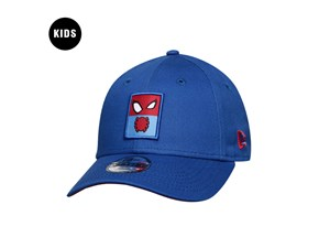 Spiderman Marvel Entertainment Elements Snap Patch Blue 9FORTY Youth Kids Cap (LAST STOCK)