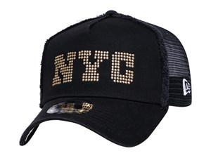 New Era NYC Studs Black 9FORTY A-Frame Trucker Cap