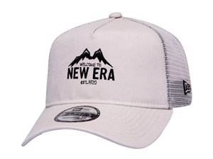 New Era Mountain Outdoor Tan Trucker 9FORTY A-Frame Cap (LAST STOCK)