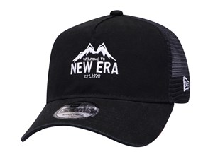 New Era Mountain Outdoor Black Trucker 9FORTY A-Frame Cap (LAST STOCK)