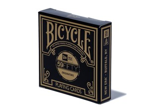New Era Brass Logo Originators Round Bicycle Playing Cards Accessory