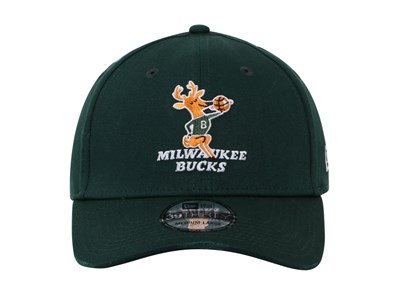 Milwaukee Bucks NBA Hardwood Classic Collection Nights Green 39THIRTY Cap