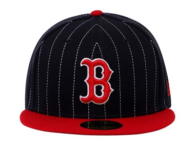 Boston Red Sox MLB Y2K Pinstripe Red Black 59FIFTY Cap