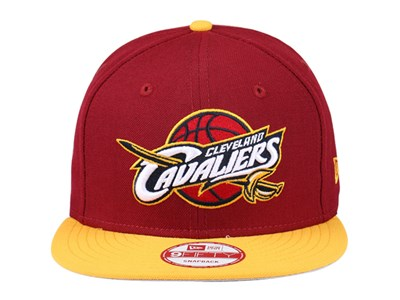 Cleveland Cavaliers NBA OTC Maoon Yellow 9FIFTY Cap