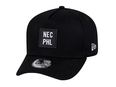 New Era NEC PHL Black 9FORTY D-Frame Cap (ESSENTIAL) ... be4671a4a36
