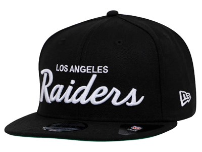 Los Angeles Raiders NFL Script Black 9FIFTY Cap (ESSENTIAL) ... e4030c66f3c6