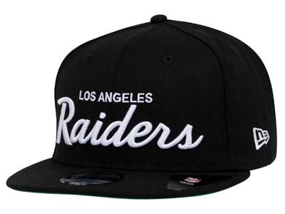 Los Angeles Raiders NFL Script Black 9FIFTY Cap (ESSENTIAL) ... d9645584eed7