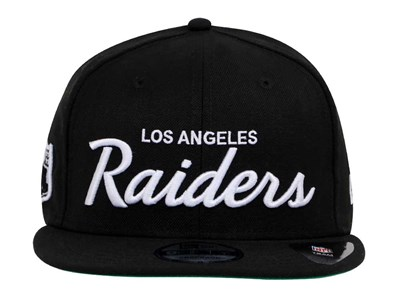Los Angeles Raiders NFL Script Black 9FIFTY Cap (ESSENTIAL)