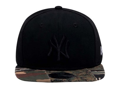 New York Yankees MLB Camo Patchwork Black  9FIFTY Cap