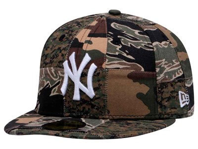 New York Yankees MLB Camo Patchwork 59FIFTY Cap
