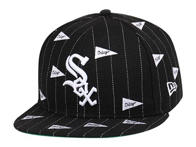 Chicago White Sox MLB Pennants Black Stripe Kelly Green 9FIFTY Cap