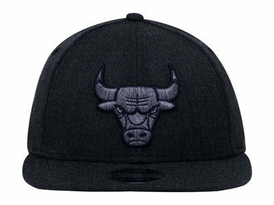 Chicago Bulls NBA Multicolor Trim Heather Black 9FIFTY Low Profile Cap