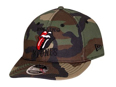 The Rolling Stones Logo Woodland Camo 9FIFTY LP Cap