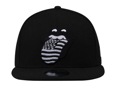 The Rolling Stones Black and White Logo Black 9FIFTY Cap