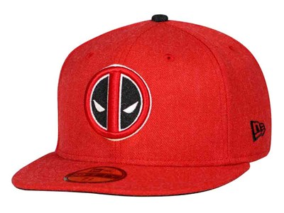 Deadpool Marvel Heather Hype Fit Red 59FIFTY Cap