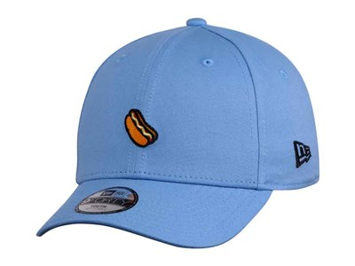 New Era Hotdog Sandwich Micro Logo Sky Blue 9FORTY Youth Kids Cap