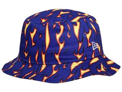 f2c390479ca7e ... order new era fire pattern royal bucket cap 77cbc 8566d