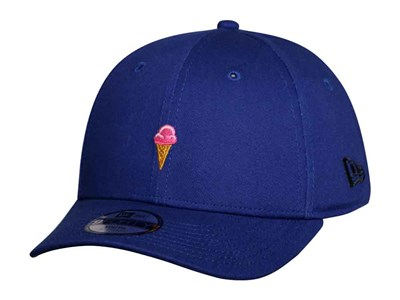 New Era Strawberry Ice Cream Cone Micro Logo Light Royal 9FORTY Youth Kids Cap