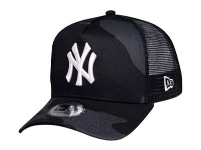 8de176ed28f72 New York Yankees MLB Camo Black Trucker 9FORTY A-Frame Cap ...