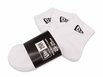 New Era 3 Pack White Socks