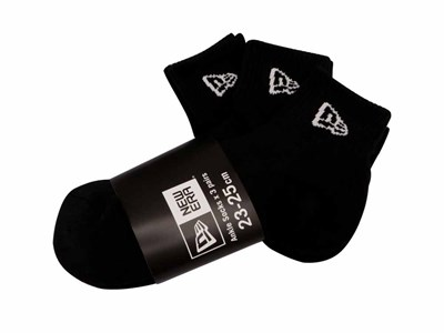 New Era 3 Pack Black Socks
