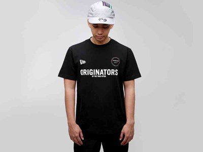 New Era Originators of the True Fitted Warm Up Black Shirt