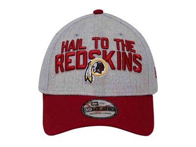 Hail to the RedSkins Washington Redskins NFL On Stage 2018 Heather Gray Red 39THIRTY Cap