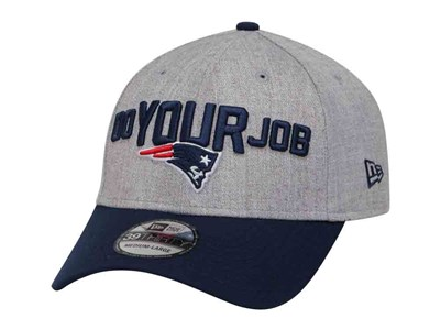 Do Your Job New England Patriots NFL On Stage 2018 Heather Gray Blue 39THIRTY Cap
