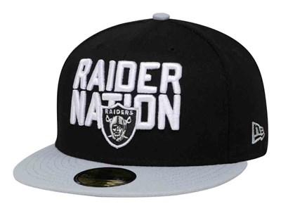 Just Win Baby Oakland Raiders NFL Spotlight 2018 Black Gray 59FIFTY Cap ... 407d81405947