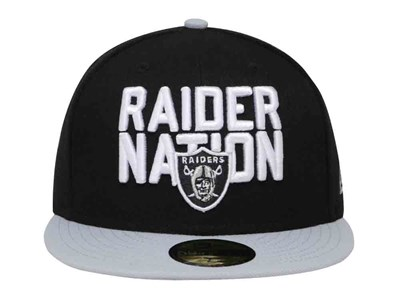 Just Win Baby Oakland Raiders NFL Spotlight 2018 Black Gray 59FIFTY Cap