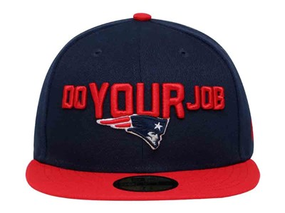 Do Your Job New England Patriots NFL Spotlight 2018 Blue Red 59FIFTY Cap