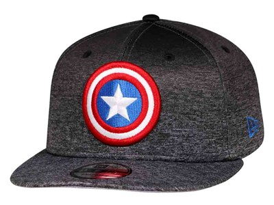 Captain America Marvel Shadow Fade Black 9FIFTY Cap