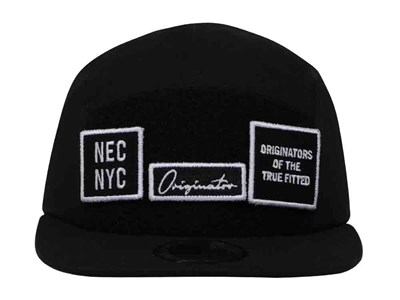 New Era Originators Patches Black Camper Cap