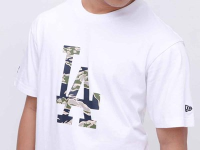 Los Angeles Dodgers MLB Tiger Camo Short Sleeves White Shirt