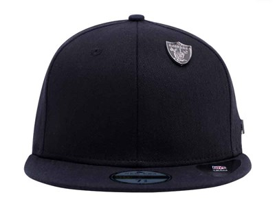 Oakland Raiders NFL Black Label Essential Pin Black 59FIFTY Cap