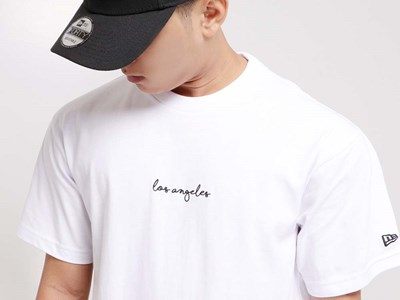 New Era Los Angeles City That Never Sleeps White Short Sleeve Shirt