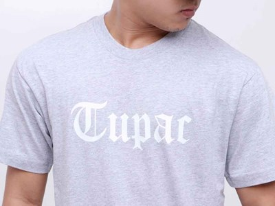 Tupac Rose from Concrete Gray Short Sleeves Shirt