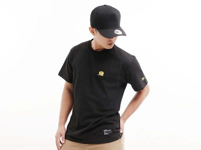 New Era Micro Logo Cheese Black Short Sleeve Shirt