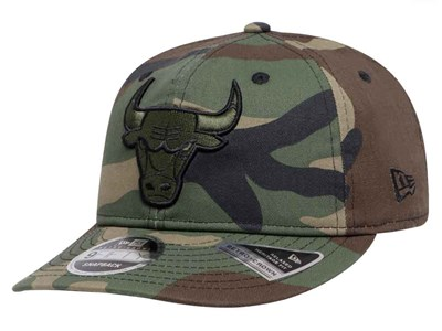 Chicago Bulls NBA Hidden Team Retro Woodland Camo 9FIFTY Cap