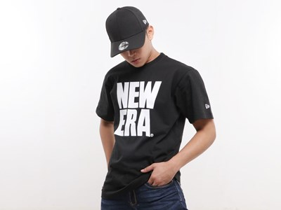 New Era Big Logo Short Sleeve Black Shirt