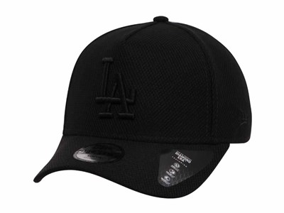 Los Angeles Dodgers MLB Diamond Era Black on Black 9FORTY Youth Kids Cap