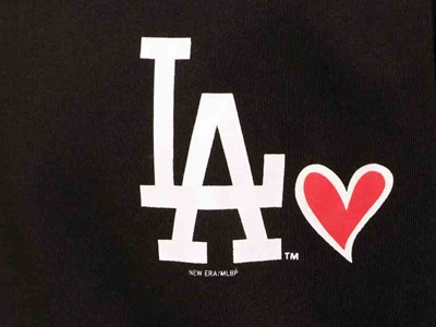 Los Angeles Dodgers MLB Heart Short Sleeve Black Shirt